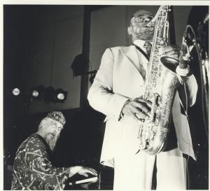 Chris with Archie Shepp, 1989
